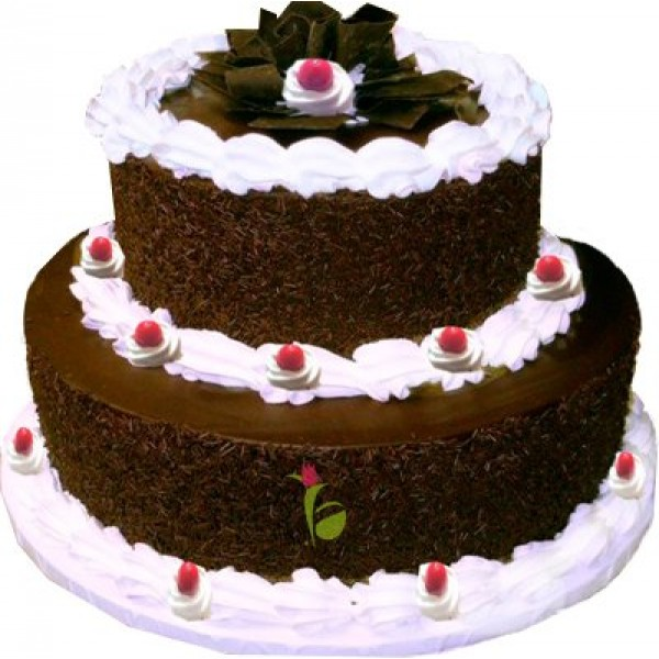 Two Tier Blackfroest Cake