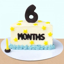 6 month Celebration birthday Cake