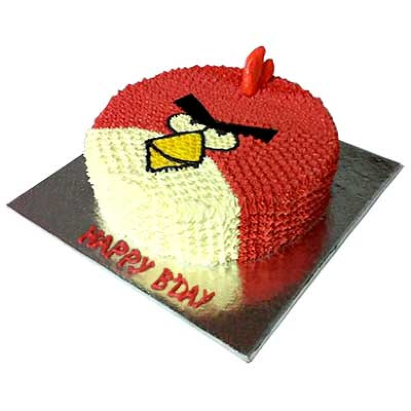 Awesome Angry Bird Cake Online Cake Delivery In Delhi Funny Birthday Cards Online Fluifree Goldxyz