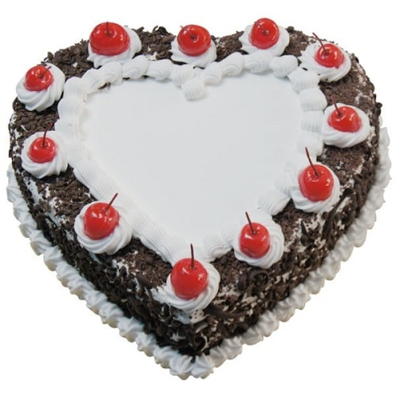 Heart Shaped Cake With Name Image : Blackforest Heart Shape Cake