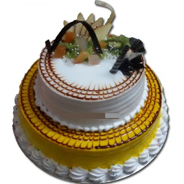Two Tier Blutter Scotch Cake