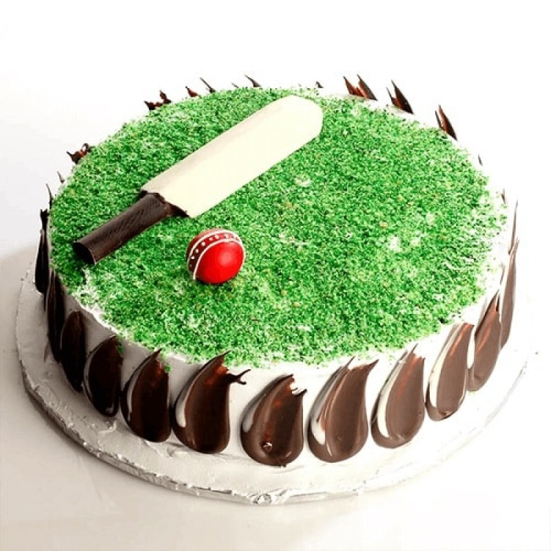 Cricket Ground Birthday Cake