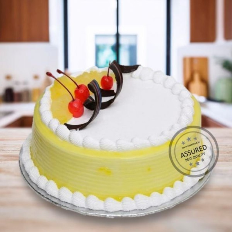 Designer Pineapple Cake Online Delivery In Hyderabad