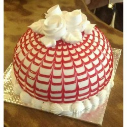 Dome Cake With Red Checks
