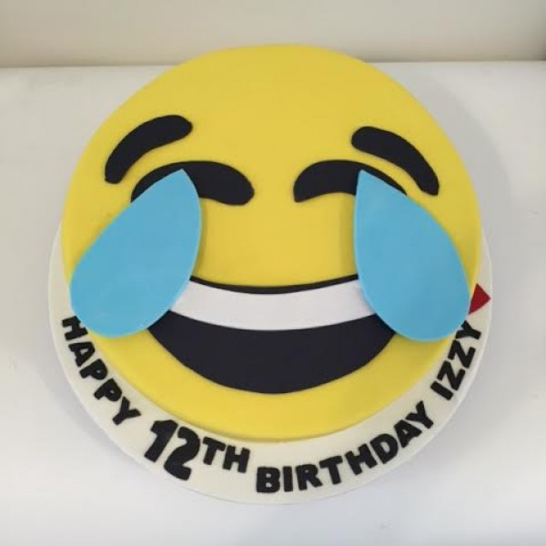 Face With Tears Of Joy  Emoji Cake