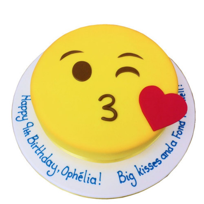 Kiss Emoji Cake Online Cake Delivery In Delhi Sweetfrost