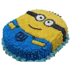 Minion Fresh Cream Cake