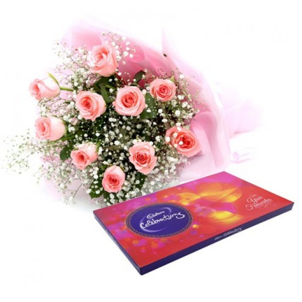 Pink Roses With Celebration