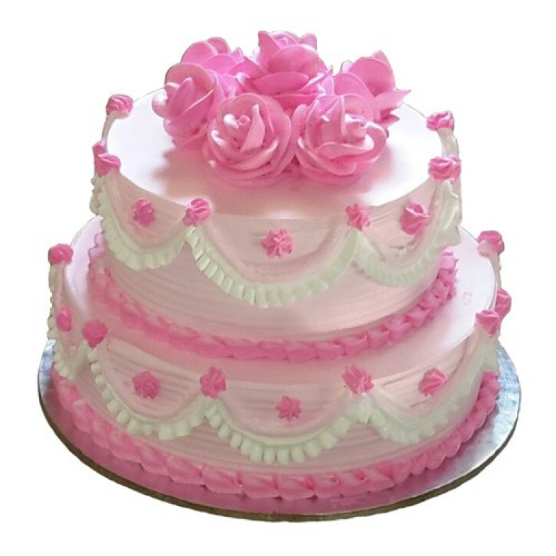 Cake Designs Half Kg : Two Tier Strawberry Cake