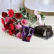 Flowers with Cake and Chocolate (4)
